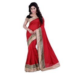 Sarvany Clothing Self Design Fashion Banarasi Silk Sari