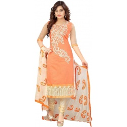 ARSHIMPEX Cotton Embroidered Salwar Suit Material  (Semi Stitched)